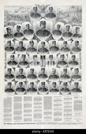 Die militärischen und historischen Porträt-Gruppe. Stockbild