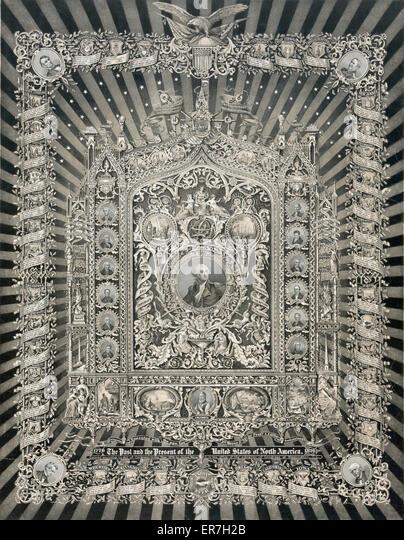 Historischen nationalen Meisterwerk der Kunst. Datum 1876. Stockbild