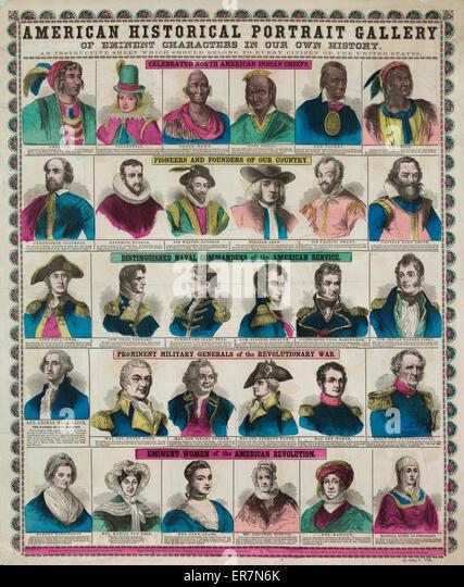 Amerikanische historische Ahnengalerie. Stockbild