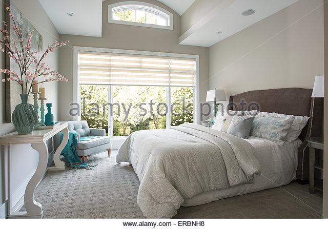 Elegante Schlafzimmer Stockbild