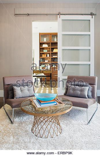 Elegante Sitzecke Stockbild