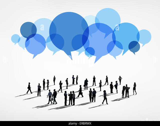 Globale Kommunikation Stockbild