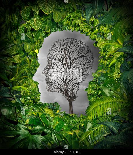 Innen Depression Konzept und innere Gefühle der Bedrängnisses als psychische Gesundheit Symbol mit einem Stockbild