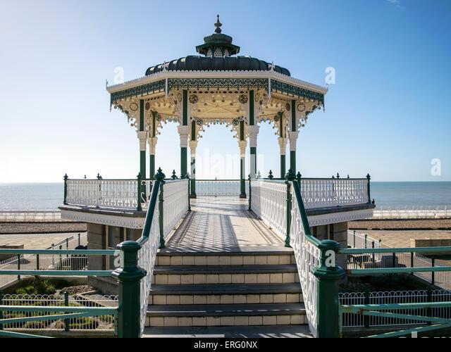 Die wiederhergestellten Strandpromenade Konzertpavillon Brighton Stockbild