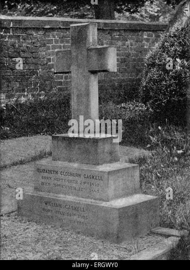 Elizabeth Gaskell Grab auf Knutsford, Cheshire: zB: englischer Schriftsteller, 1810-1865. Stockbild