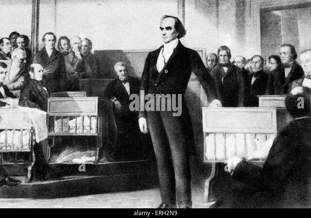 Daniel Webster, US-amerikanischer Politiker 18. Januar 1782 - 24. Oktober 1852. Stockbild