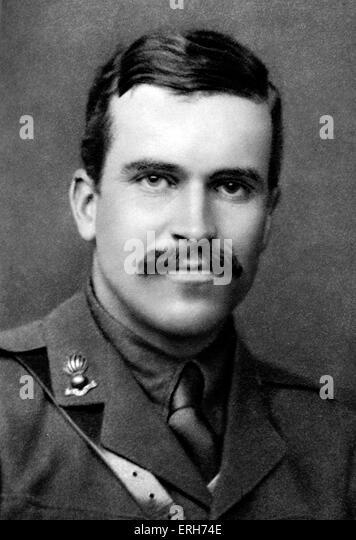 Donald Hankey - Porträt. Am besten bekannt für zwei Bände von Essays über die britische Armee Stockbild
