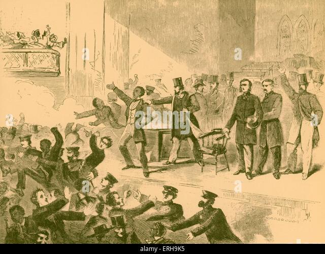 19. Jahrhundert Abolitionist Anti-Sklaverei treffen, Virginia, Amerika. Künstler unbekannt, vor Bürgerkrieg. Stockbild