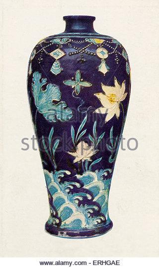 """Antike chinesische Vase Porzellan """"Drei Farben"""". Etwa 1500.  British Museum Stockbild"""