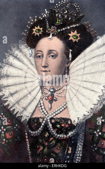 Königin Elizabeth I - Porträt der Königin von England 1533-1603 Stockbild