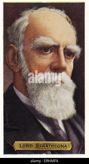 Donald Alexander Smith, 1. Baron Strathcona - Schottisch-getragener kanadischer Politiker. DAS: August 6, 1820-Januar Stockbild