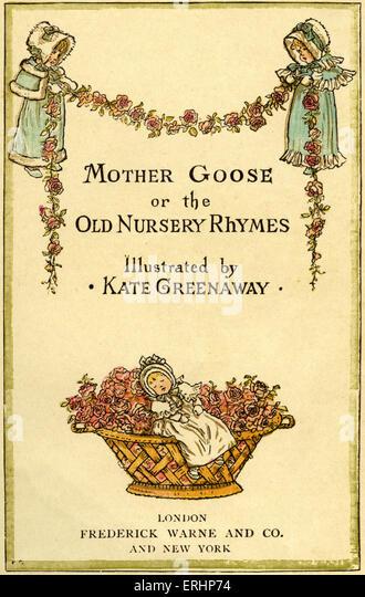 Mutter Gans oder die alte Kinderreime von Kate Greenaway / London, Frederick Warne veröffentlicht. (Erste veröffentlichte Stockbild