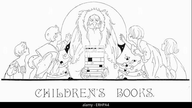 Kinderbuch - Illustration aus den 1920er Jahren. Stockbild