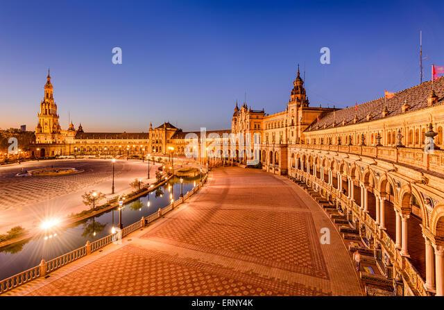 Sevilla, Spanien am Plaza de Espana. Stockbild