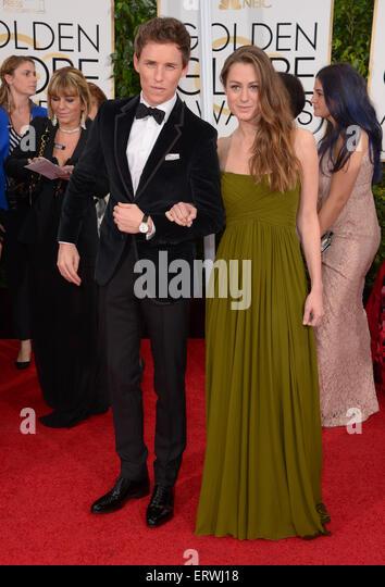 Schauspieler Eddie Redmayne und Hannah Bagshawe, Los Angeles, CA Stockbild