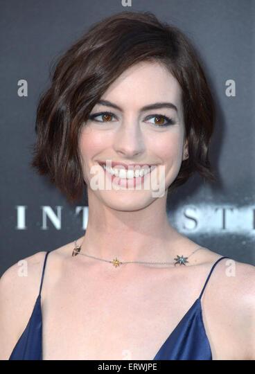 Schauspielerin Anne Hathaway, Los Angeles, CA Stockbild