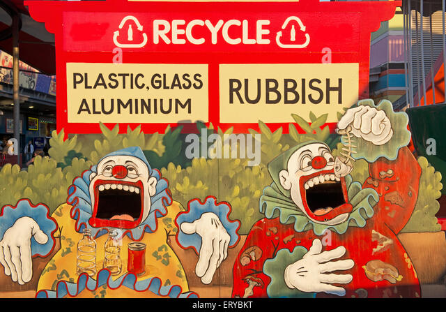 Recycling-Board, Sydney, New South Wales, Australien, Stockbild