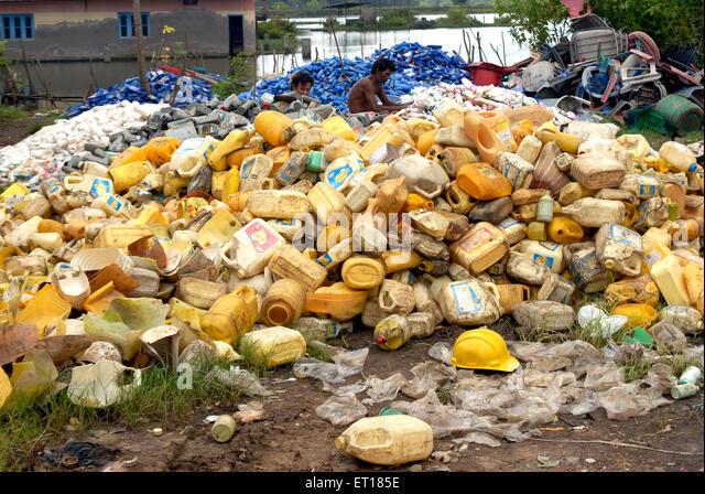Junk-e-Plastikmüll auf Redskin Inseln; Andaman Nicobar Inseln; Golf von Bengalen; Indien Oktober 2008 Stockbild