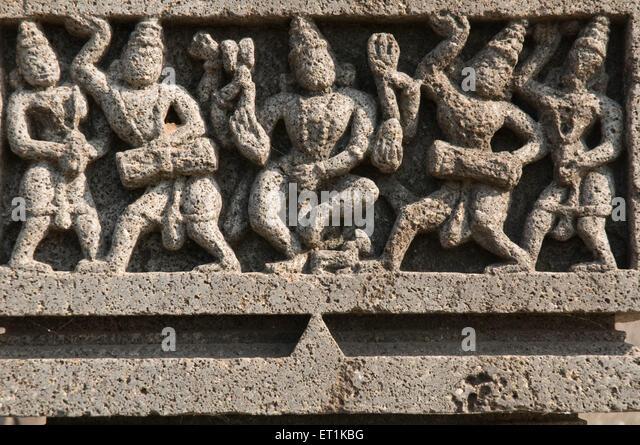 Skulpturen im Tanz Posen Pune Maharashtra Indien Asien Feb 2011 Stockbild