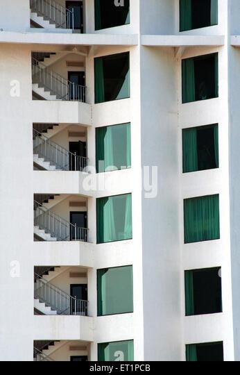 Grafik-Design-Hotels in Kerala; Indien Stockbild