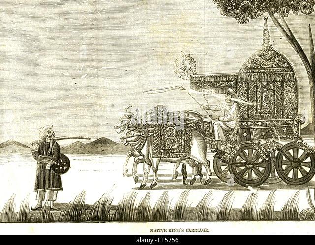 Native König Beförderung; Indien Stockbild