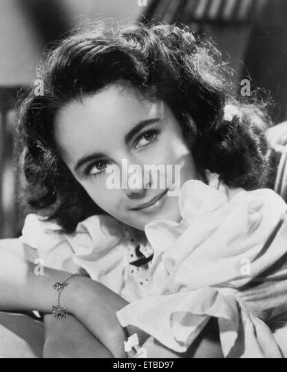 Schauspielerin Elizabeth Taylor, Werbung Portrait, 1944 Stockbild
