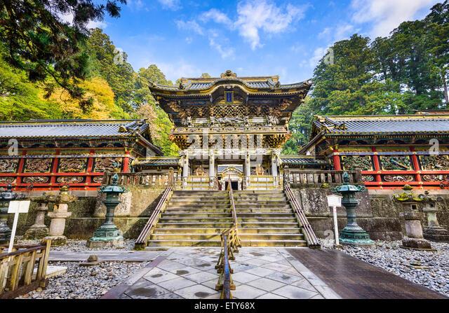 Nikko, Japan auf Geschichtliches. Stockbild