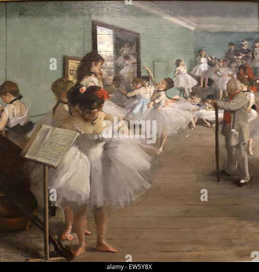 Edgar Degas (1834-1917). Französischer Maler. Tanzkurs, 1874. Öl auf Leinwand. Metropolitan Museum of Stockbild