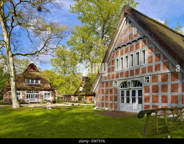 Haus Im Schluh in Worpswede, Deutschland Stockbild