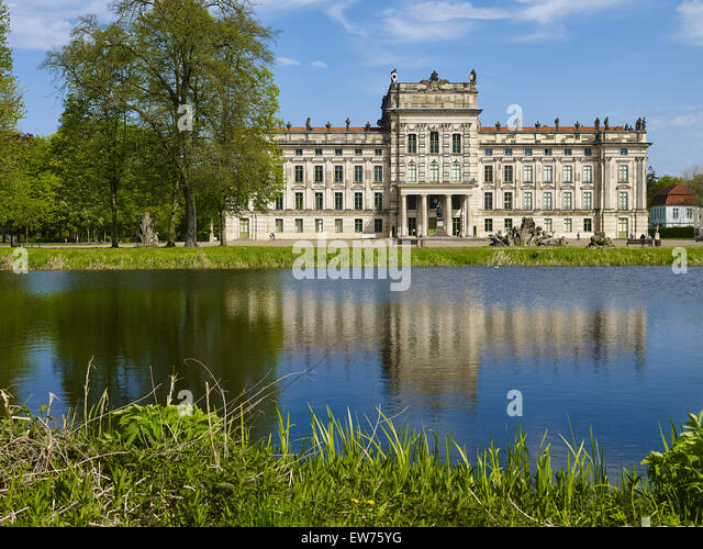 Barockschloss Ludwigslust, Deutschland Stockbild