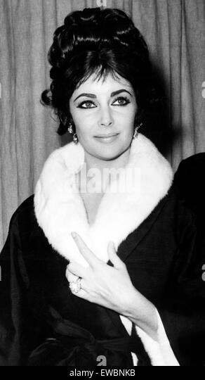 Elizabeth Taylor, 1962 Stockbild