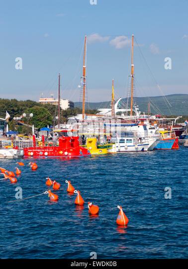 Insel Krk alte Stadt am Wasser. Insel Krk, Kroatien Stockbild