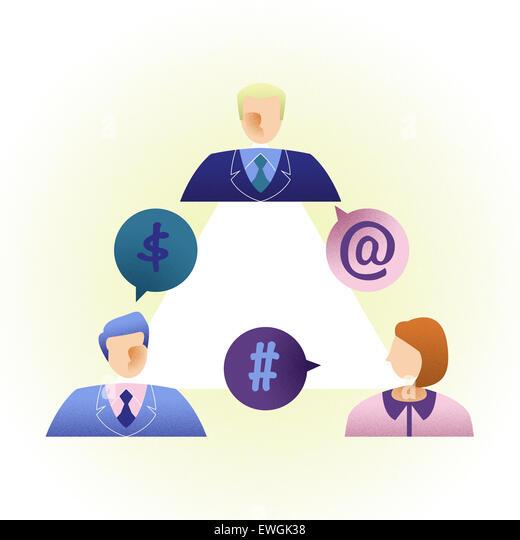 Business-Leute, die Online-Kommunikation Stockbild