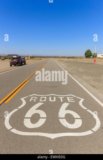 Amboy auf der Route 66, Kalifornien, USA. Stockbild