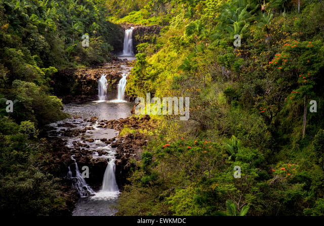 UmaUma fällt. Hawaii, Big Island. Stockbild
