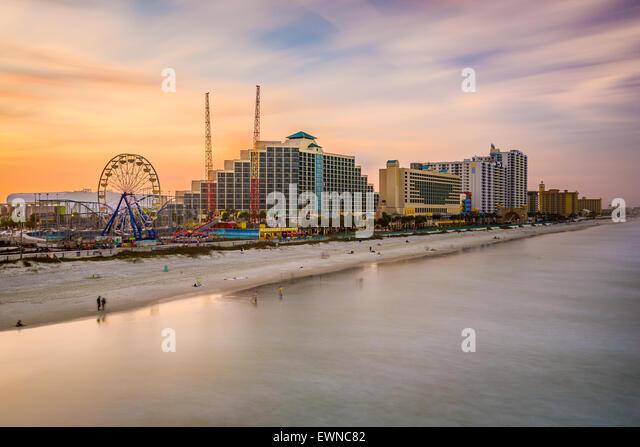 Daytona Beach, Florida, USA für resorts Skyline. Stockbild