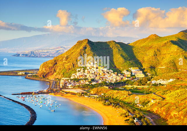 Teneriffa - Teresitas-Strand und San Andres Dorf, Kanarische Inseln, Spanien Stockbild