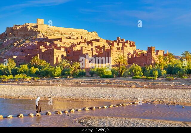 Ait Benhaddou Festung in der Nähe von Ouarzazate, Marokko Stockbild
