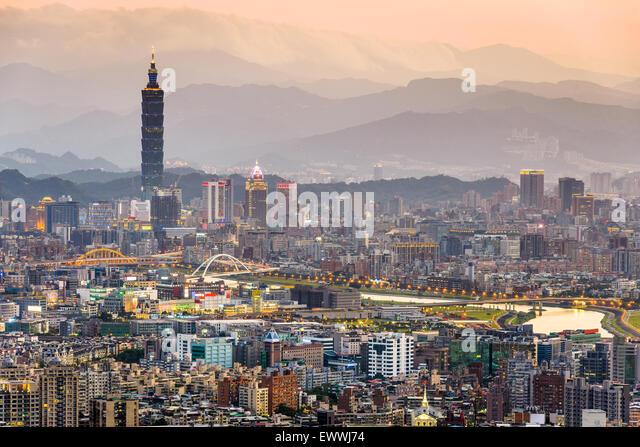 Taipei, Taiwan Skyline der Stadt. Stockbild
