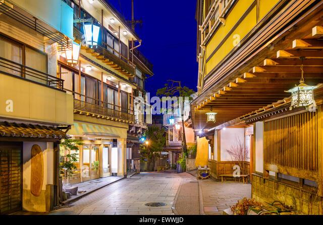 Shibu Onsen, Nagano, Japan historischen Hot Springs Resort Stadt. Stockbild