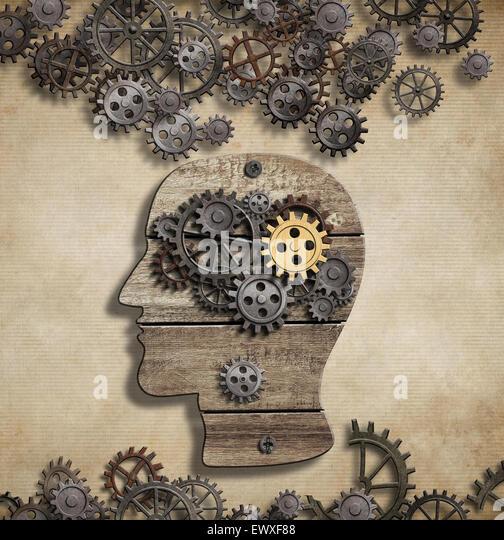 Gehirn geistige Aktivität und Idee Konzept Stockbild