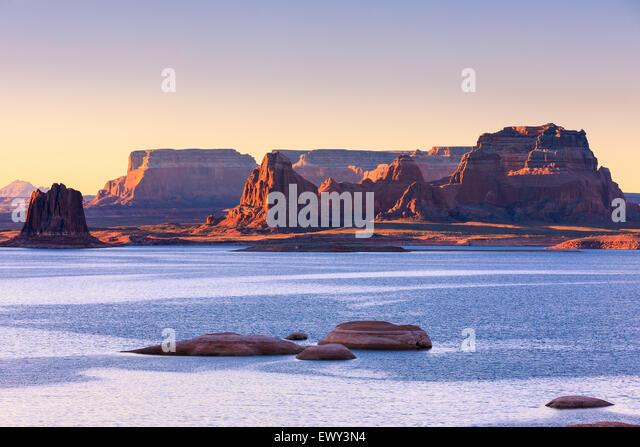 Padre Bucht von Cookie Jar Butte. Lake Powell in Utah Stockbild