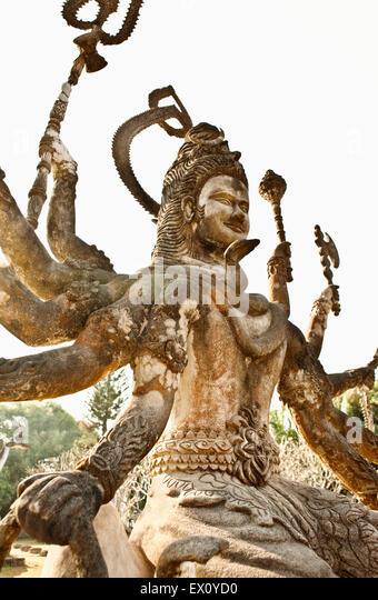 Betonfiguren in Xieng Khuan (Buddha Park), Vientiane, Laos P.D.R Buddha Park erstellte Luang Pou Bounlua Soulilat. Stockbild