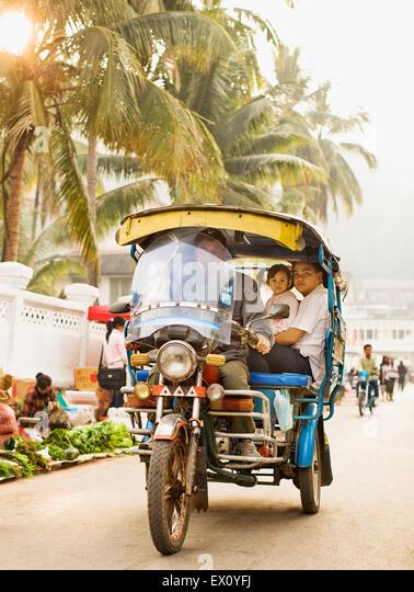 Morgenmarkt. Luang Prabang, Laos. Stockbild