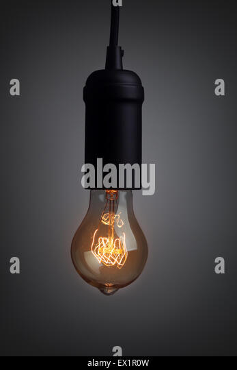 Vintage Lampe leuchtet Stockbild