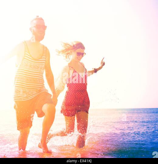Sweet-Strand Sommerurlaub paar Liebe Konzept Stockbild