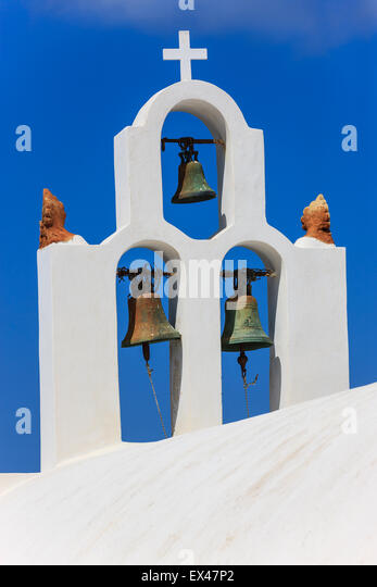 Traditionellen griechischen Kykladen-Architektur-Stil in Imerovigli, einem kleinen Ort zwischen Fira und Oia auf - Stock-Bilder