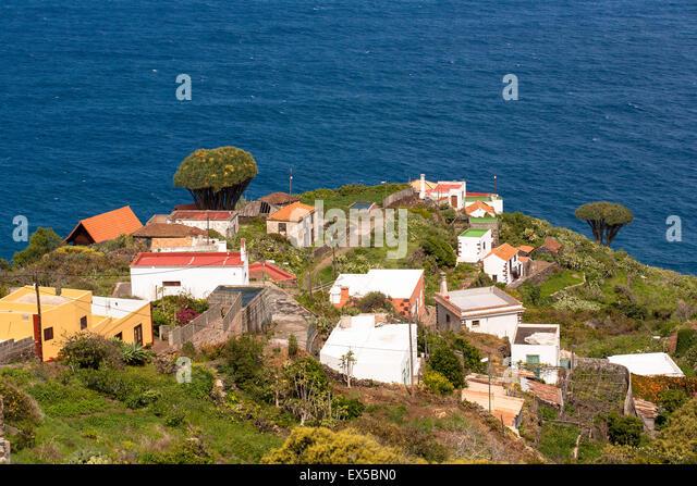 ESP, Spanien, Kanarische Inseln, Insel von La Palma, das Dorf El Tablado an der Nordküste.  ESP, Spanien, Kanarische Stockbild