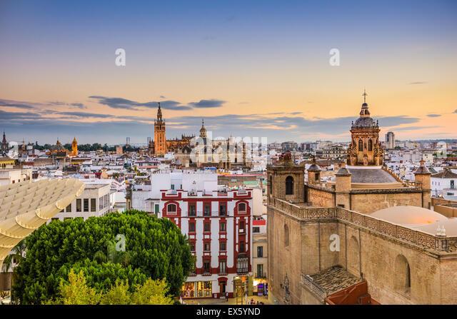 Sevilla, Spanien, den alten Stadt Skyline. Stockbild
