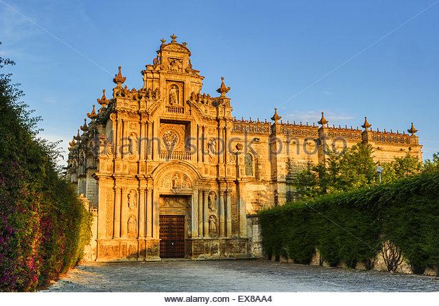 Spanien, Andalusien Region, Jerez De La Frontera Stadtzentrum, Blick von La Cartuja de Jerez Heiligtum. Stockbild